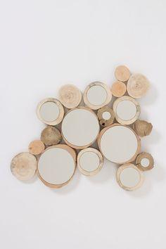 Wooden Orbit Mirror