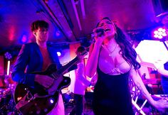 Amy Winehouse makes as surprise appearance to perform with Mark Ronson at the 100 Club in London, July 6, 2010