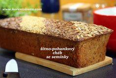 žitno-pohankový chléb se semínky Bread Baking, Quiche, Banana Bread, Food And Drink, Cooking, Desserts, Baking, Kitchen, Tailgate Desserts