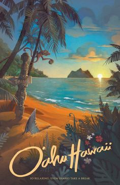 Hawaii North Shore Travel Poster, Hawaii Art, Hawaii Wall Art, Hawaii Print, … – Famous Last Words Posters Paris, Posters Wall, Posters Decor, Poster Prints, Gig Poster, Art Prints, Art Plage, Hawaii Painting, Bel Art
