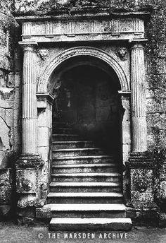 Entrance, Old Wardour Castle, Wiltshire, England