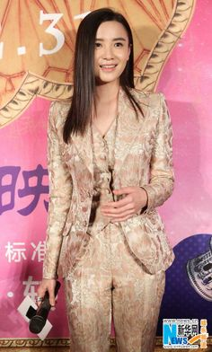 "Actress Song Jia attends the premier film ""Up in the Wind"" in Beijing December 26, 2013"