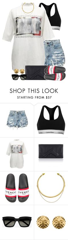 Untitled #1588 by power-beauty on Polyvore featuring Calvin Klein, Chanel, OBEY Clothing, Yves Saint Laurent and Givenchy
