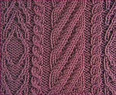 Узоры вязания спицами. Косы. - - узоры вязания спицами