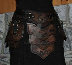 leather armor belt assy by Lagueuse.deviantart.com on @DeviantArt