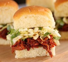 Pulled pork sliders with cilantro slaw...