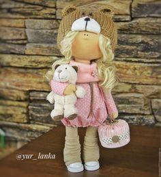Купить Кукла интерьерная текстильная 30 см - кукла ручной работы, кукла в подарок