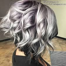 Image result for grey brown  short hair with highlights
