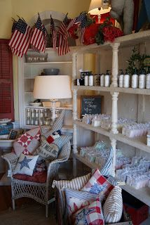 the cottage gals: Red, White and Blue