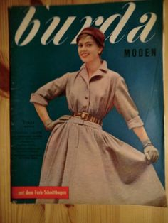 Burda Moden Heft 1 Januar 1956 mit Arbeitsheft ohne Schnittmusterbogen   eBay