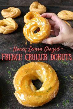 Honey Lemon Glazed Cruller Donuts - The Foodie Journey