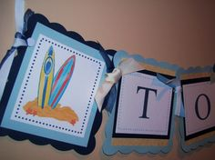 Surf Board Name Banner by pricelessoccasions on Etsy, $20.00