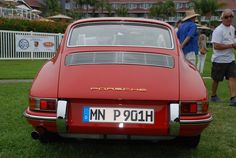 Red 1964 Porsche 901_ rear view_ 356 Club of California Dana Point Concours_ July 21, 2013