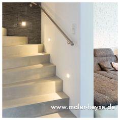 #Betonoptik auf einer Treppe hergestellt.   http://www.maler-heyse.de/leistungen/moderne-oberflaechen/betonoptik.html