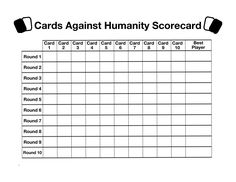 Diy Cards Against Humanity, Really Fun Games, Horrible People, Star Work, Printables, Printable Cards, Family Games, Letter Size