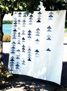 Quilt Pattern~Snow Geese~Snow Arctic Landscape~Simple~Calm~Sophisticated