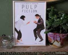 Pulp Fiction movie poster #1 - A4 print