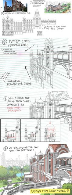 How to Draw Detailed Buildings - by Thomas Romain (one of the few foreigners working in the anime industry in Japan):