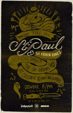 St Paul & The Broken Bones - Gigposter