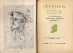 James Joyce, Stephen Hero Image Gallery for James Joyce for Irish Literature 1699 - 1944: An Exhibition