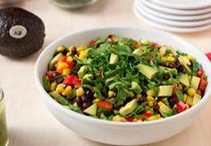 Chopped Cilantro Spinach Salad with Avocado