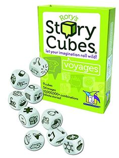 Buy Rory's Story Cubes: Voyages - Let Your Imagination Roll Wild! at Mighty Ape NZ. How to play: Take a trip with Rory's Story Cubes! Contained within this set are nine iconic cubes that aim to inspire stories of epic adventure. Story Cubes, 100 Games, Games For Kids, Family Games, Kids Fun, Story Generator, Cube Games, Gifted Kids, Game Sales