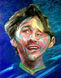 """""""HBD...Lionel Messi /Soccer Player"""" #Creative #Art in #painting @Touchtalent"""