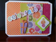 www.fb.com/susansdesignstudio This is card can be used for any celebration. The inside is blank so you can add your personal sentiment. Finished card is 6 1/2 x 5 inches. $5.00 Cdn. Celebrate 1
