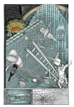 John Vernon Lord's Whimsical Illustrations for James Joyce's Finnegans Wake further illustrations related to major literature works and dreams. very surreal, peter blake-esque James Joyce Finnegans Wake, John Vernon, People Illustration, Book Illustrations, Illustration Art, Historical Images, Book Projects, Light Art, Love Book