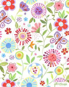 Floral Print by Jill McDonald Design