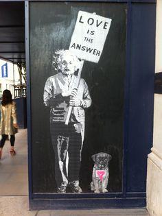 Street art around London.