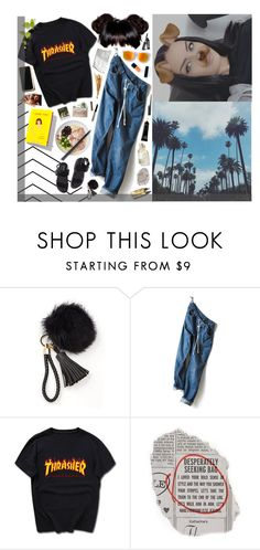 """06/20/16 - Happy Summer"" by ana-banana ❤ liked on Polyvore featuring Garance Doré, Matt Bernson, Polaroid, Kate Spade, Bobbi Brown Cosmetics, thrasher, denimjoggers and mattbernson"