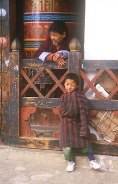 Prayer Wheel Duo . Bhutan