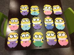 Some of the 'Despicable Me' minion door decs that my residents and I made this past semester! :)