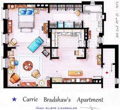 Sex & the City: Carrie Bradshaw's apartment Et si je rêvais du studio de Carrie... :)