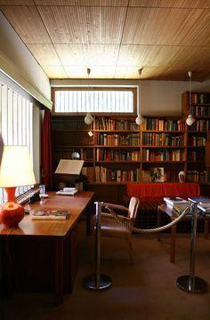 Louis Carré's study, designed by Alvar Aalto.