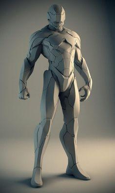 Robocop concept sculpture by Mike Jensen