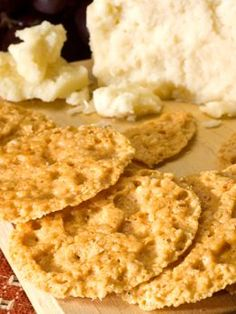 Baked Parmesan Cheese Crisps   Low Carb Snack Cracker