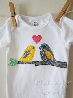bird onesie for the babies