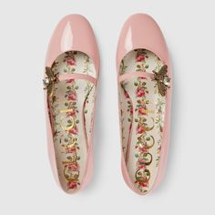 Gucci Patent leather ballet flat with bee Detail 3