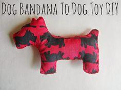 Running With A Glue Gun: Dog Bandana To Dog Toy DIY