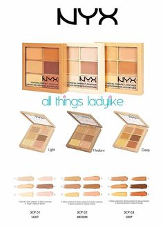 NYX Conceal Correct Contour Palette choose LIGHT MEDIUM DEEP Cream Concealer