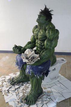 Hulk on the Toilet - Sculpture in Seoul, Korea