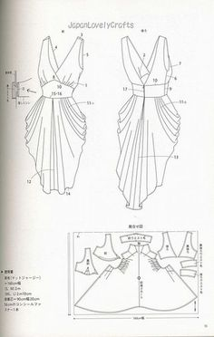 drape drape dress no5 | Patterns sewing. ..♥.Nims.♥