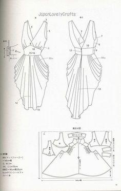 drape drape dress no5 | Patterns sewing. ..♥.Nims.♥