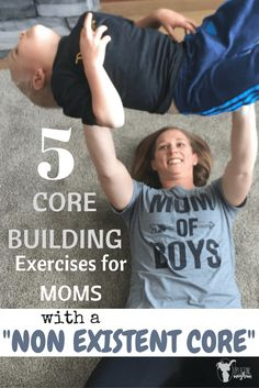 Great exercises a mom can do at home while being with her kids!