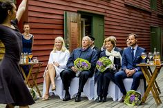 King Harald and Queen Sonja, Crown Princess Mette-Marit and Crown Prince Haakon of Norway, on a visit to Bergen, during the King and Queen of Norway's Silver Jubilee Tour, on June 25, 2016 in Bergen