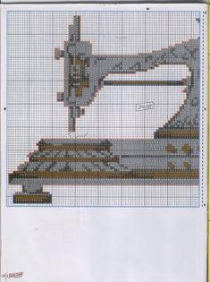 Puedes bordar estas máquinas de coser antiguas para hacer un cuadro, cojin, un porta hilos o una funda para tu máquina de coser.