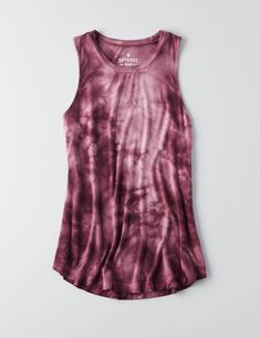 AEO Soft & Sexy Drapey Tank , Blue | American Eagle Outfitters