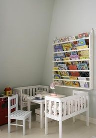 toddler bed into a Reading nook